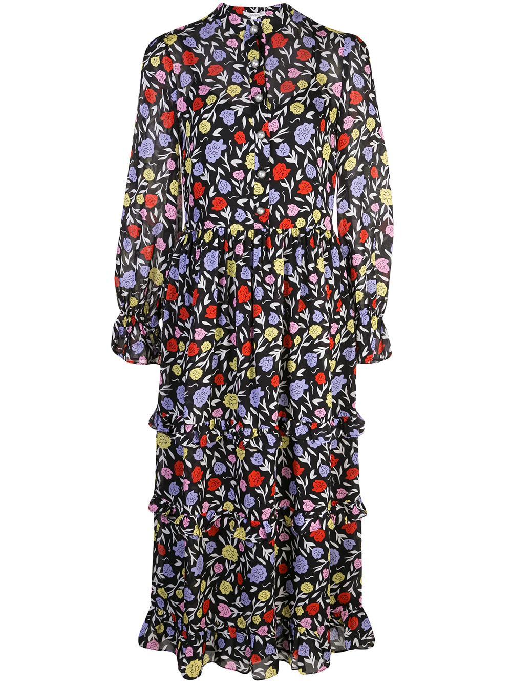 Florence Floral Midi Dress