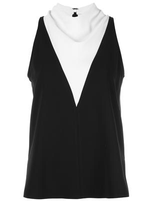 Cate Layered Cowl Neck Top