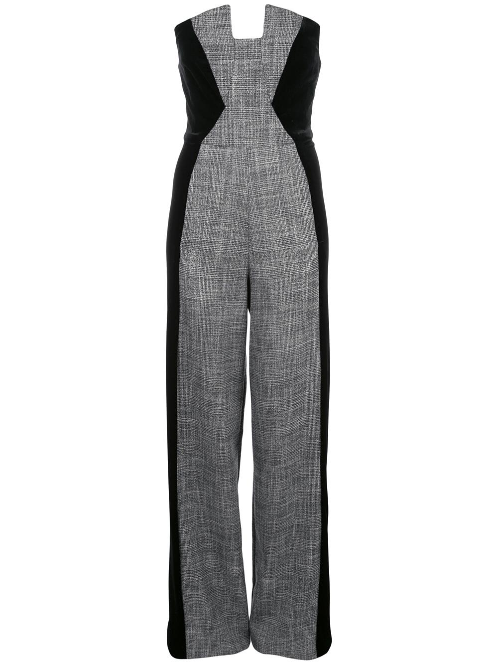 Lena Plaid And Velvet Jumpsuit