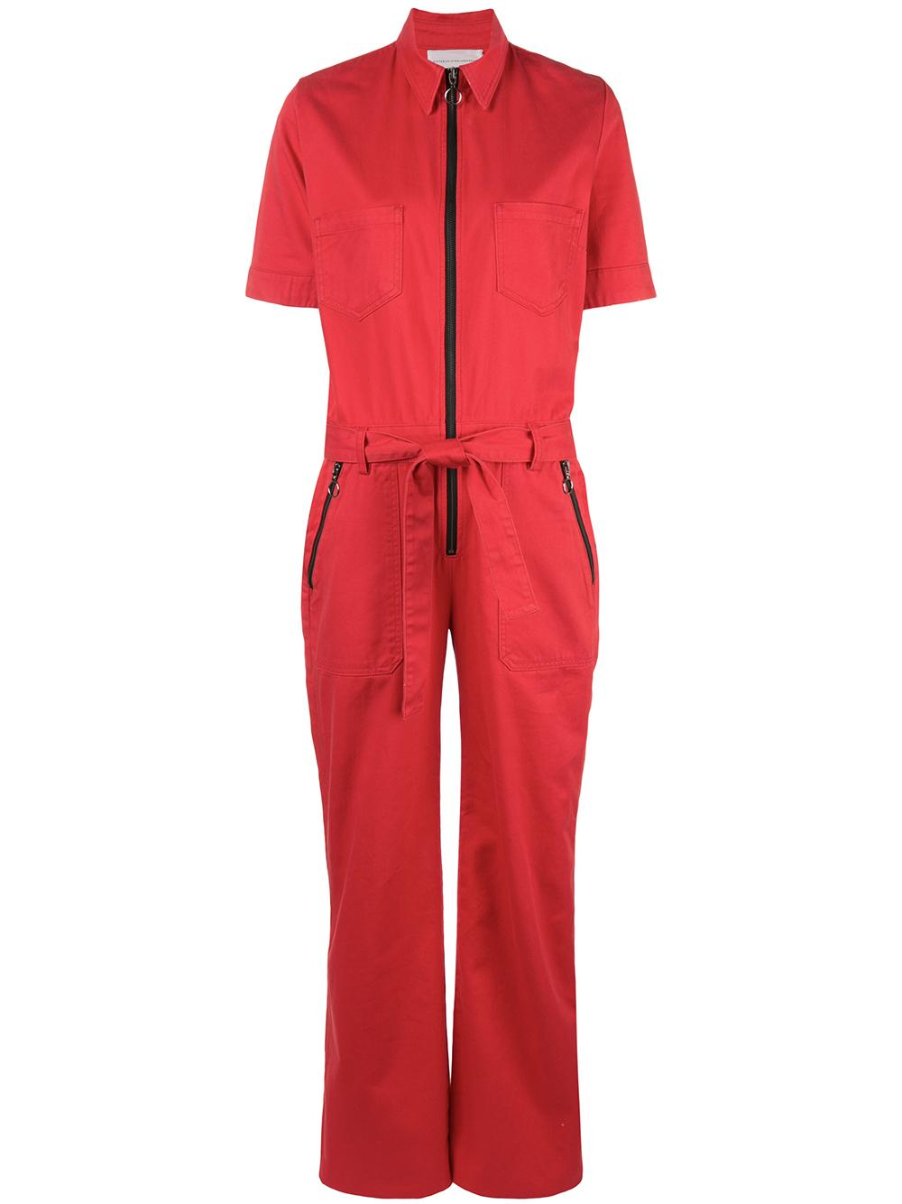 Short Sleeve Cotton Jumpsuit