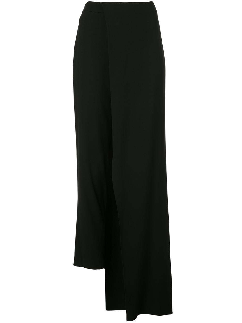 Satin Crepe Pant With Half Skirt Overlay