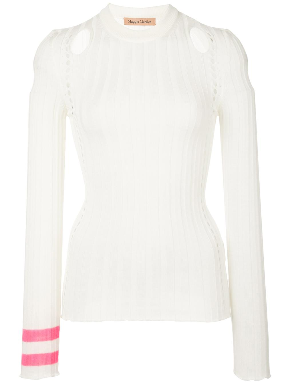 Long Sleeve Knit With Cut Out Dtl