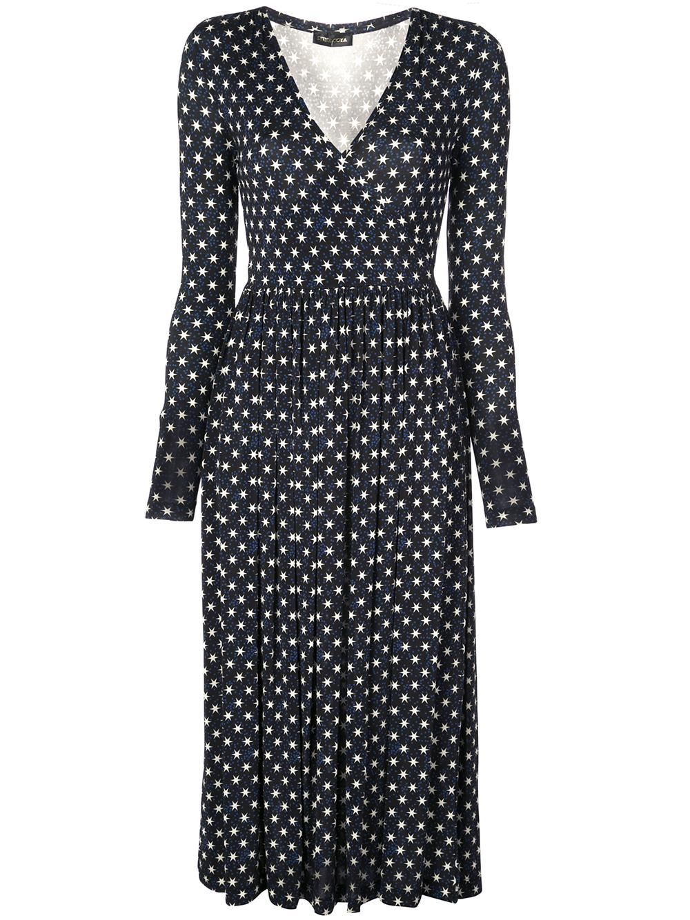 Aline Light Jersey Star Print Dress Item # SG2581