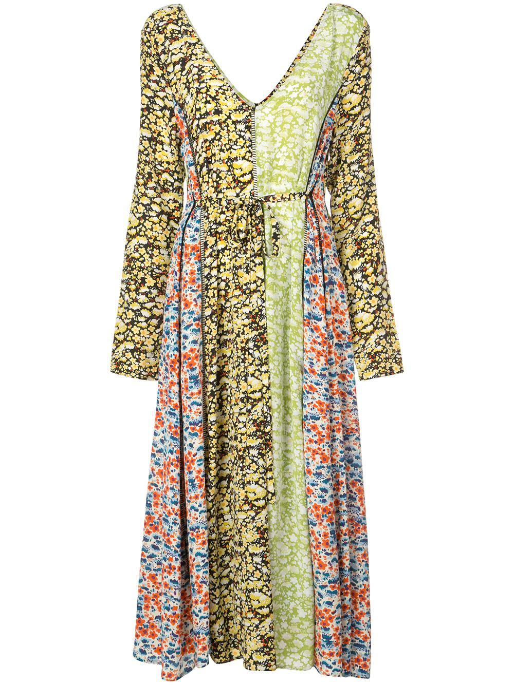 Mica Meadow Silk Scoop Neck Maxi Dress Item # SG2610