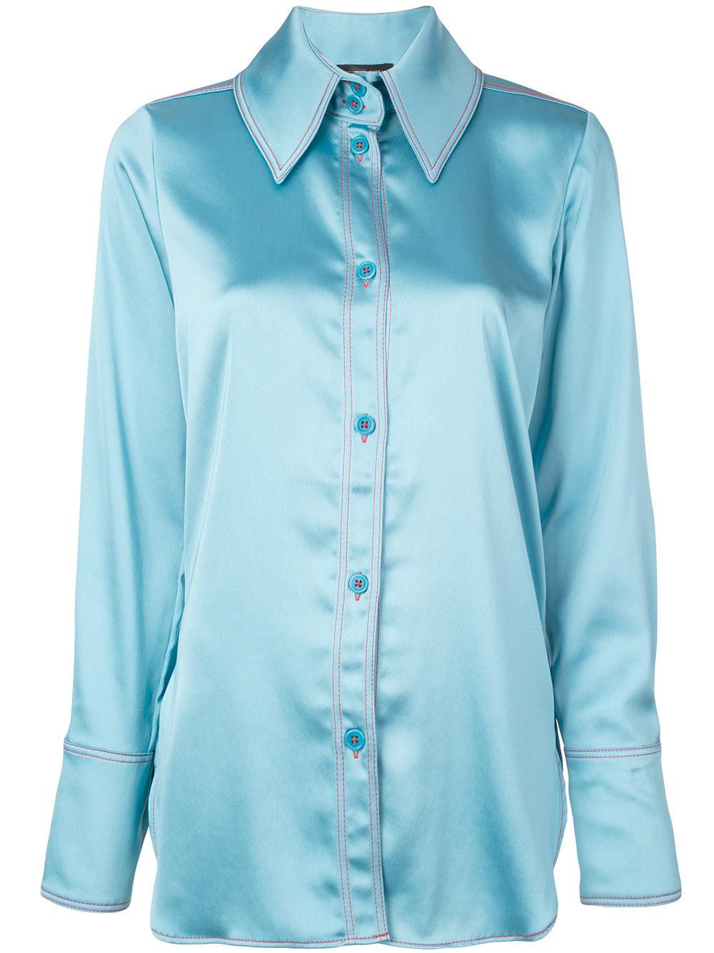James Polyester Long Buttondown Shirt