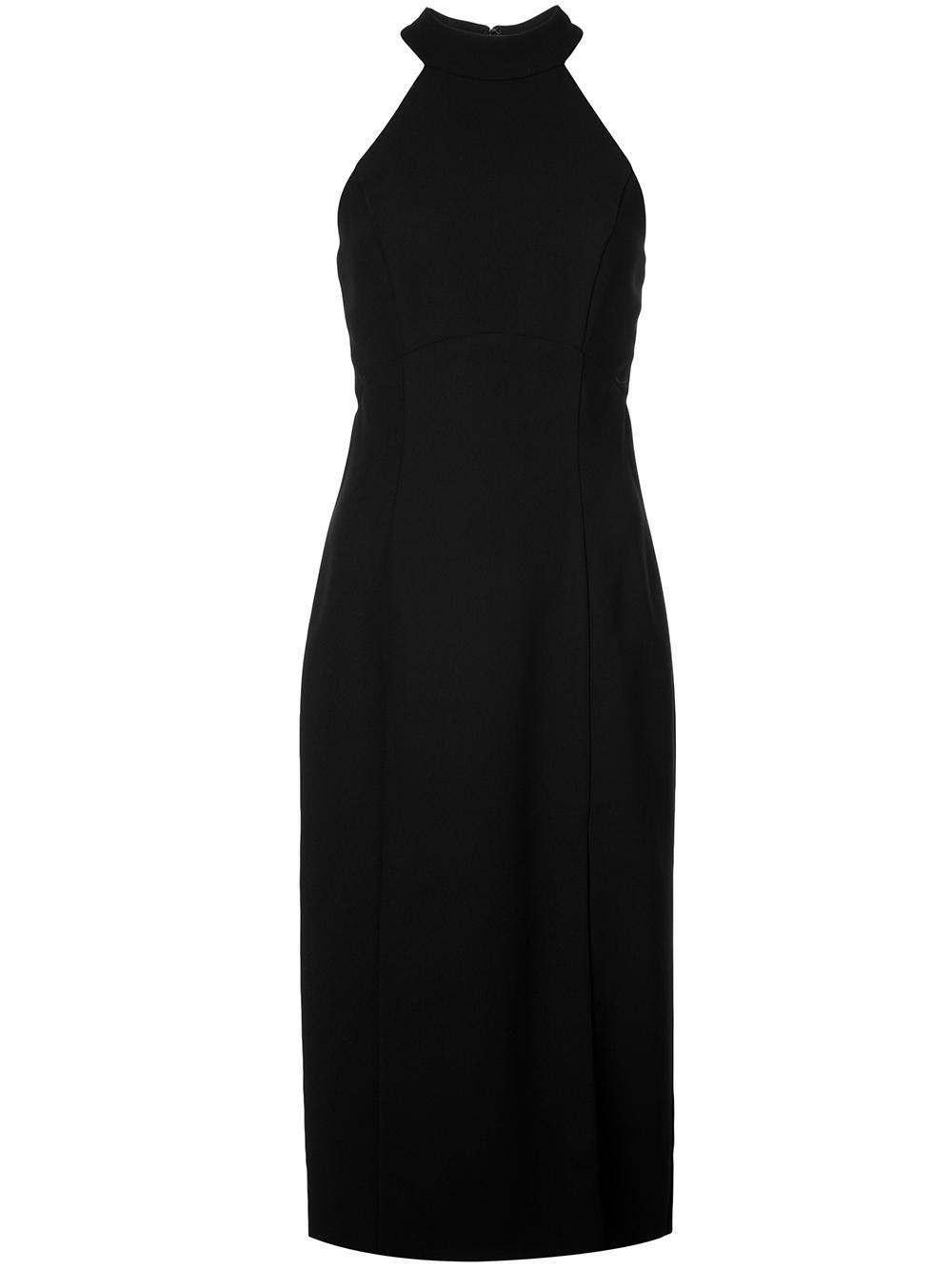 Crepe Halter Neckline Sheath Dress Item # LW141
