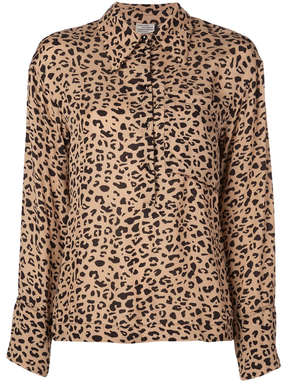 Moxie Leopard Buttonup One Pocket Bls Item # 20491