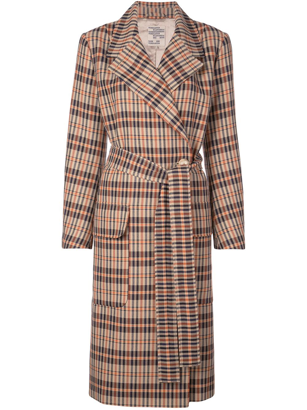 Diedra Plaid Long Coat