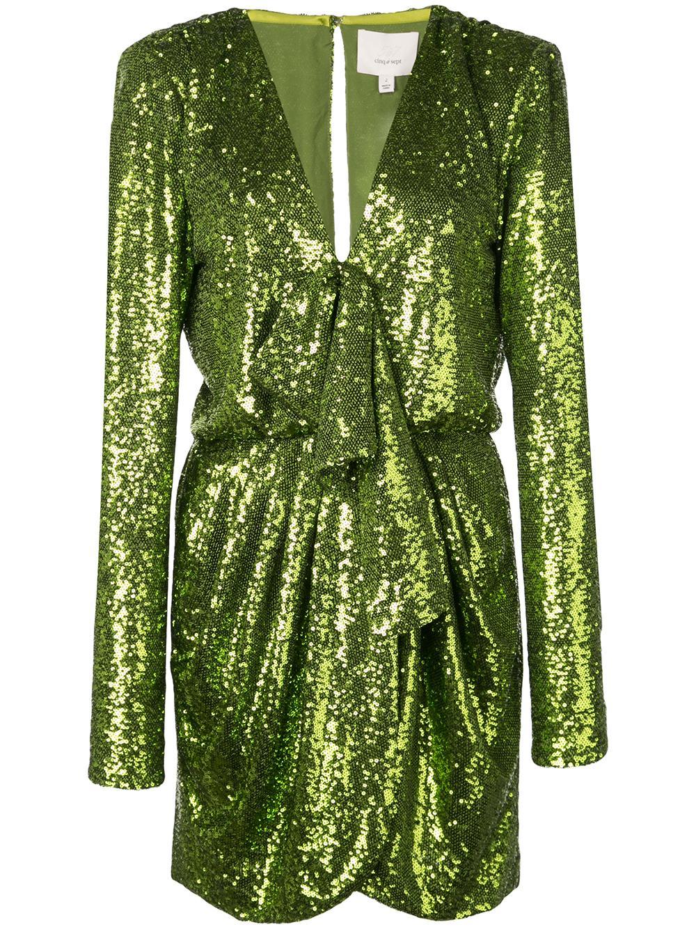 Skylar Sequin Gathered Front Short Dress Item # ZD9782776Z