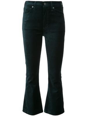 Demy Crop Flare Velour Jean