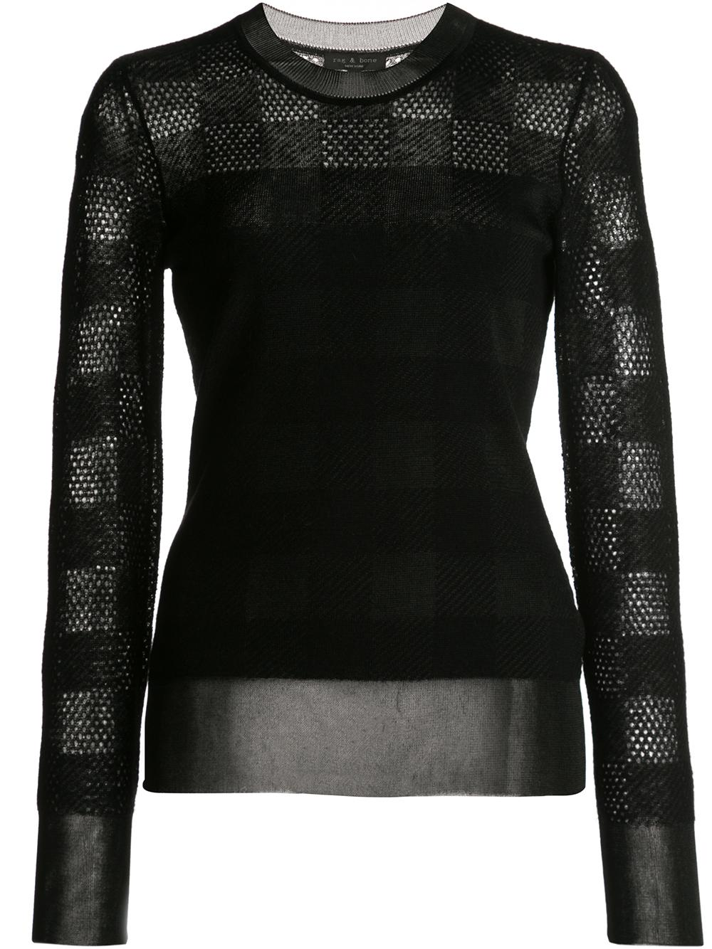 Charlotte Plaid Crew Neck Sweater