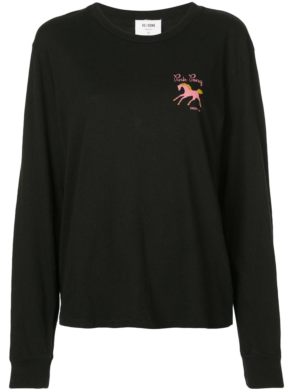90s Long Sleeve Pink Pony Tee Item # 029-2WGTL5