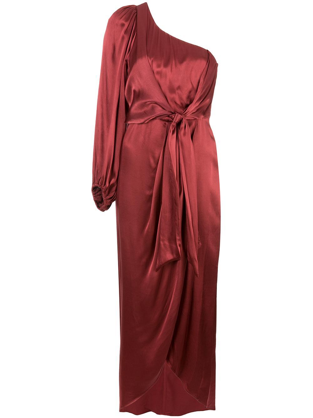Joan One Shoulder Draped Midi Dress