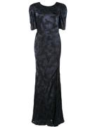 Annie Short Sleeve Gown With Slit