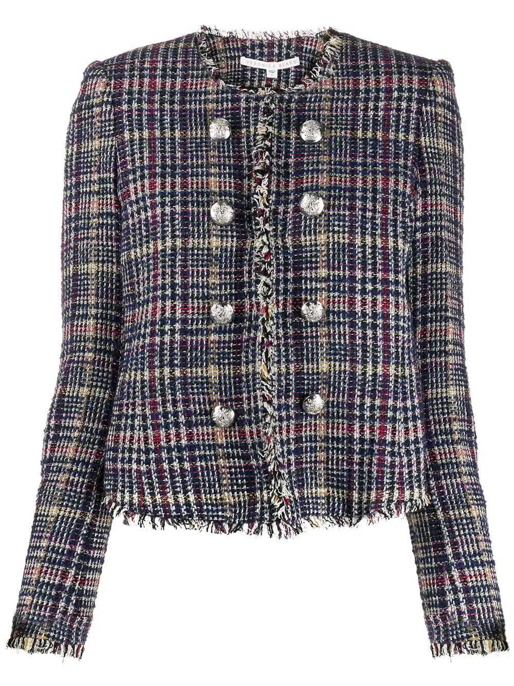 Jerry Collarless Tweed Jacket Item # 1908TW0131568