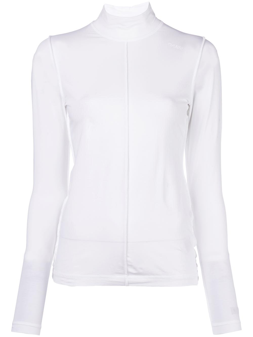 Light Stretch Jersey Turtleneck Top