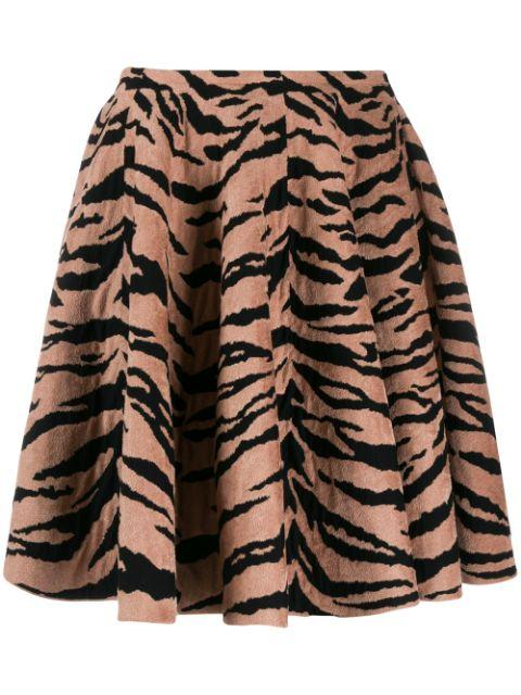 Tiger Print Full Skirt Short Length Dress