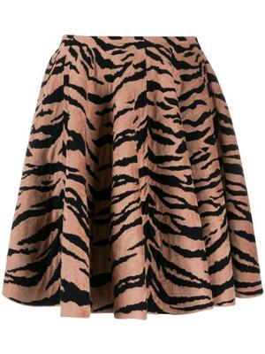 Tiger Print Full Skirt Short Length Dress
