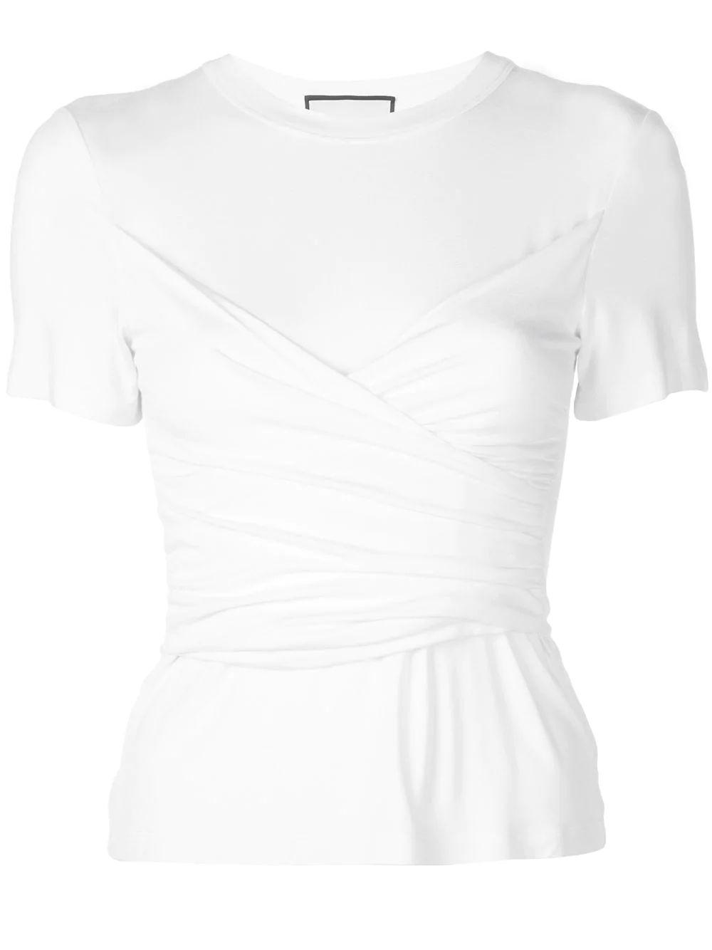 Soli Short Sleeve Knot Cross Front Top