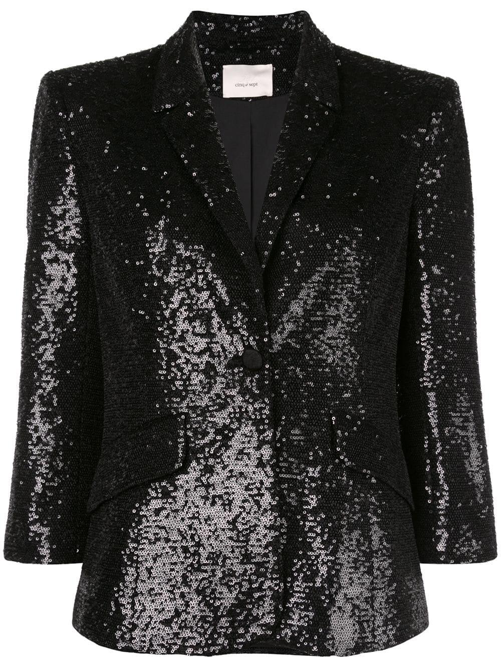 Jana Sequin 3/4 Sleeve Blazer