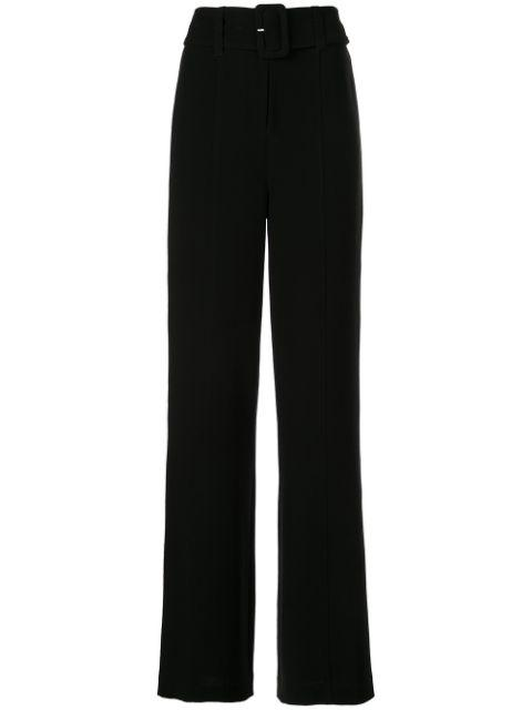 Eliza Highwaist Crop Wideleg Pant With Belt
