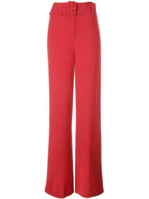 Eliza Highwaist Crop Wideleg Pant With Belt Item # ZP334B1319Z