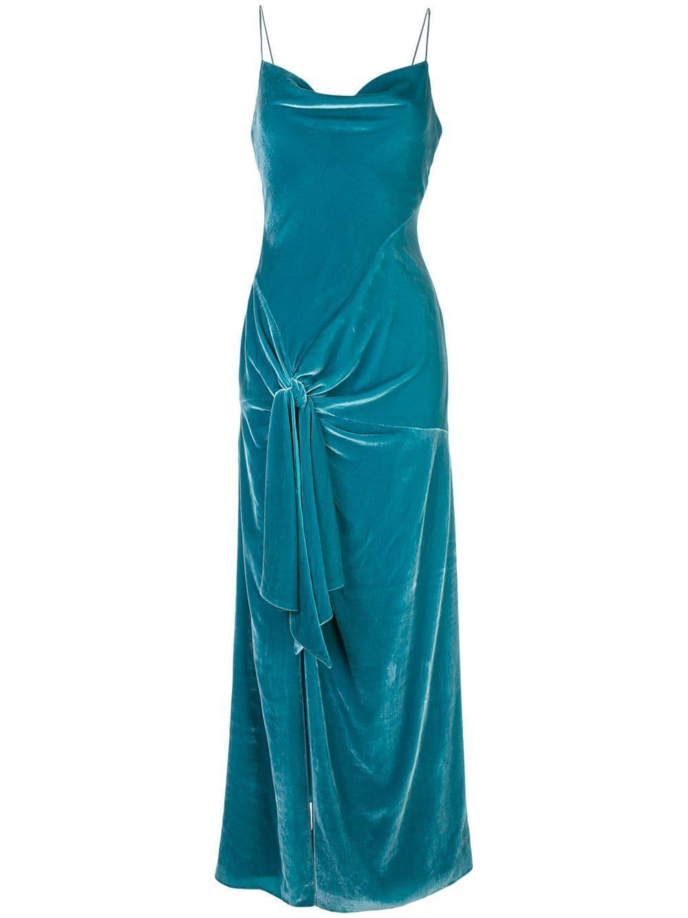 Renee Velvet Front Knot Gown
