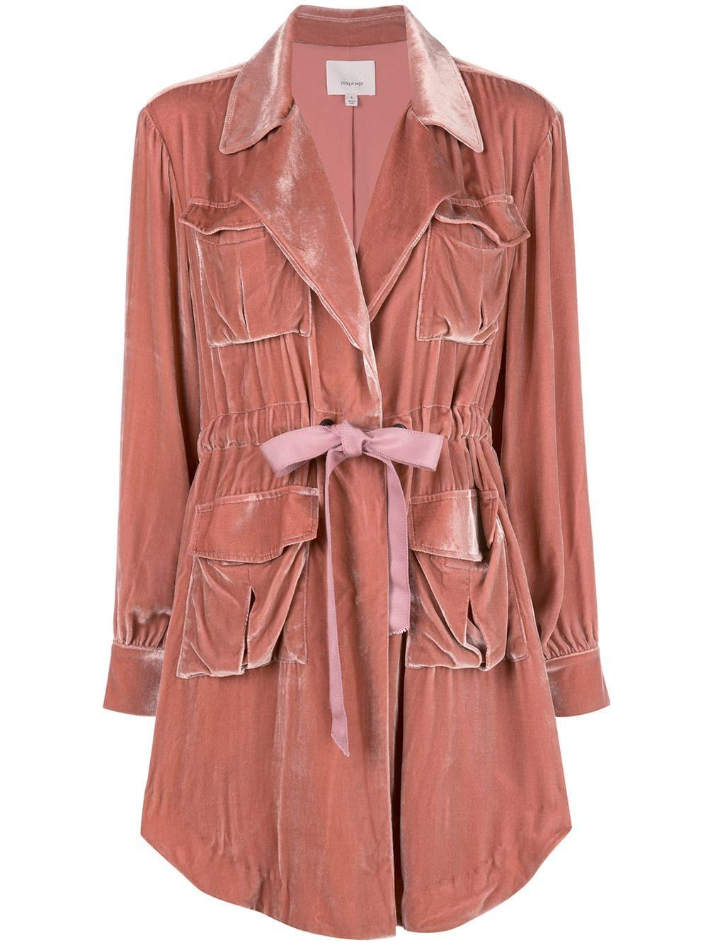Mathieu Velvet Drawstring Trench Jacket