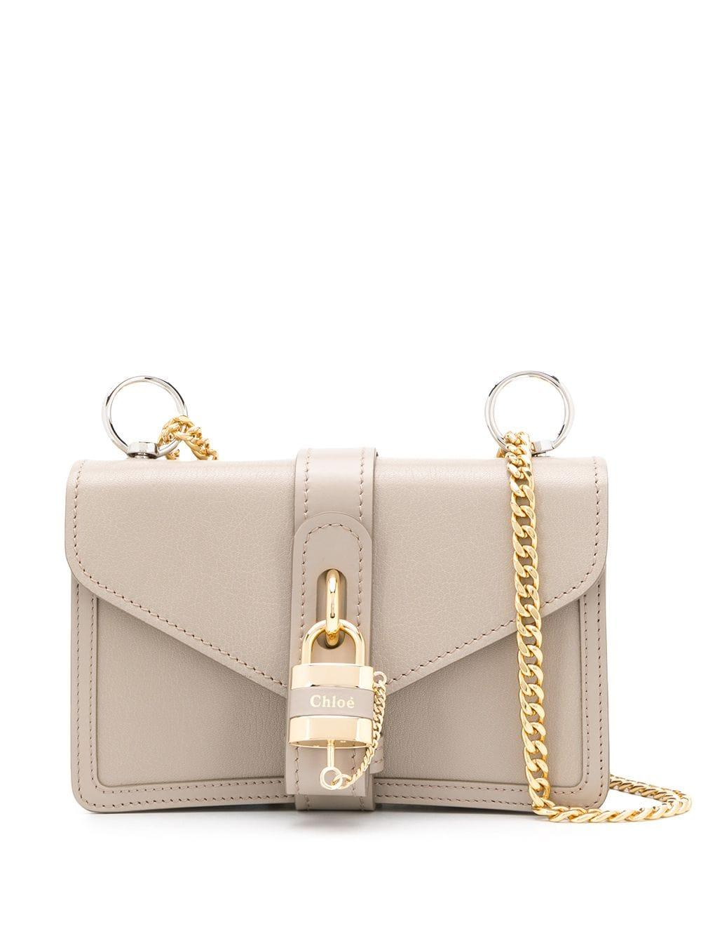 Aby Shiny Bag With Lock Chain Strap