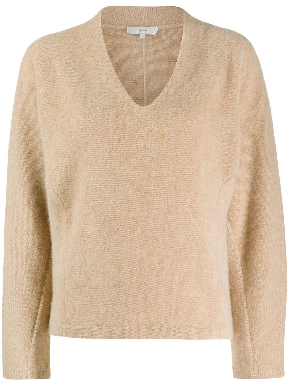 V Neck Dolman Sweater