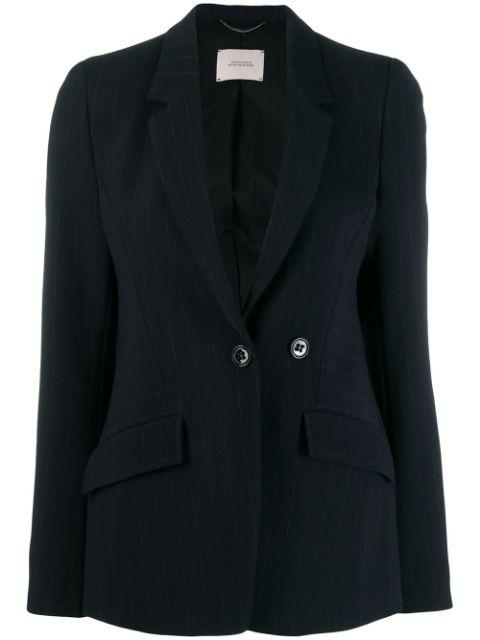 Distinctive Stripes Pinstripe Suit Jacket