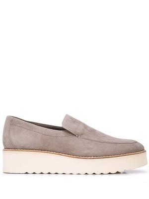 Suede Leather Platform Loafer