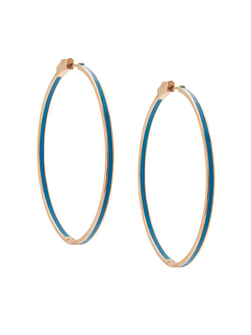 Kristi Enamel Hoop Earring