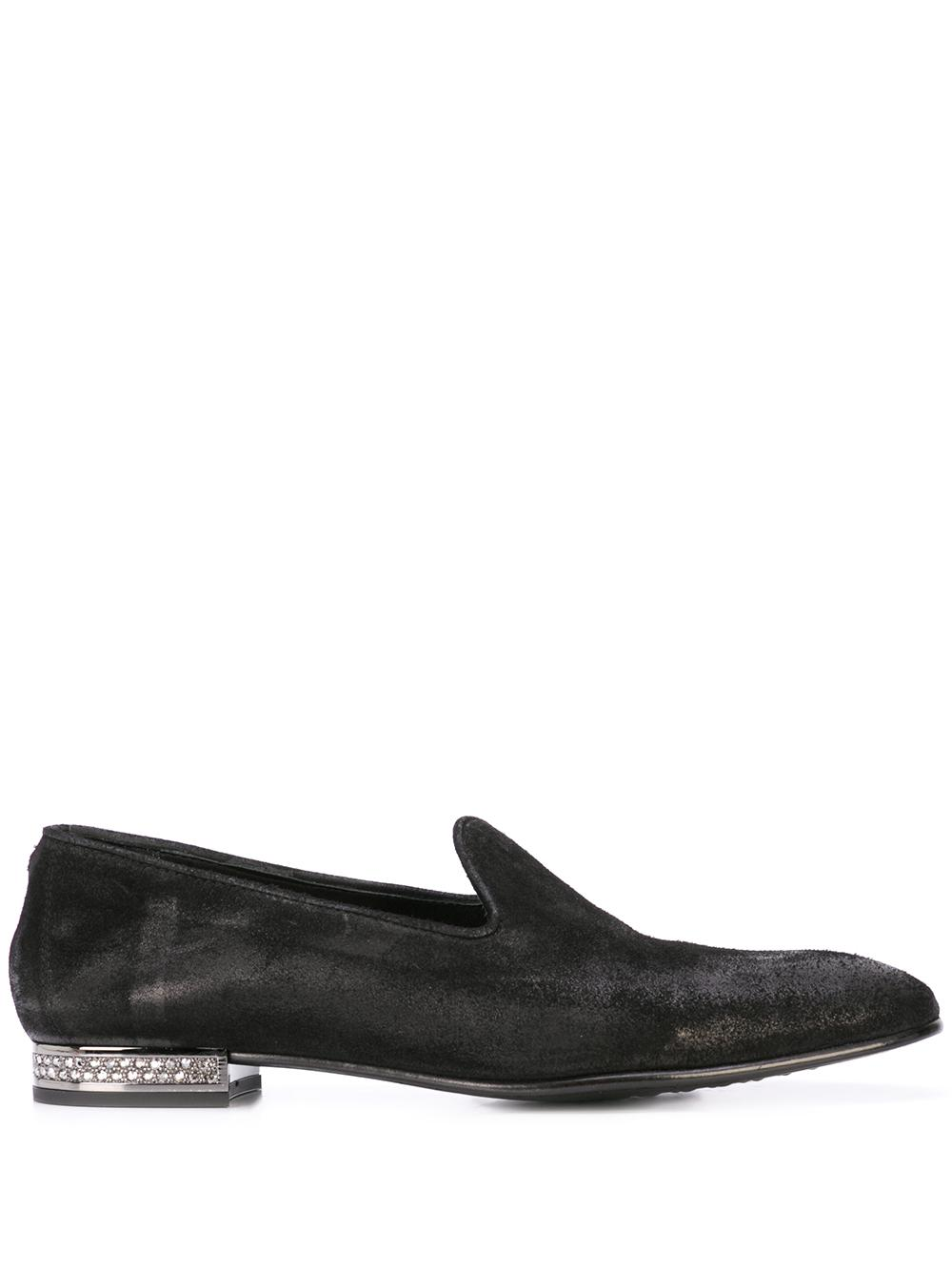 Suede Loafer With Brilliant Heel