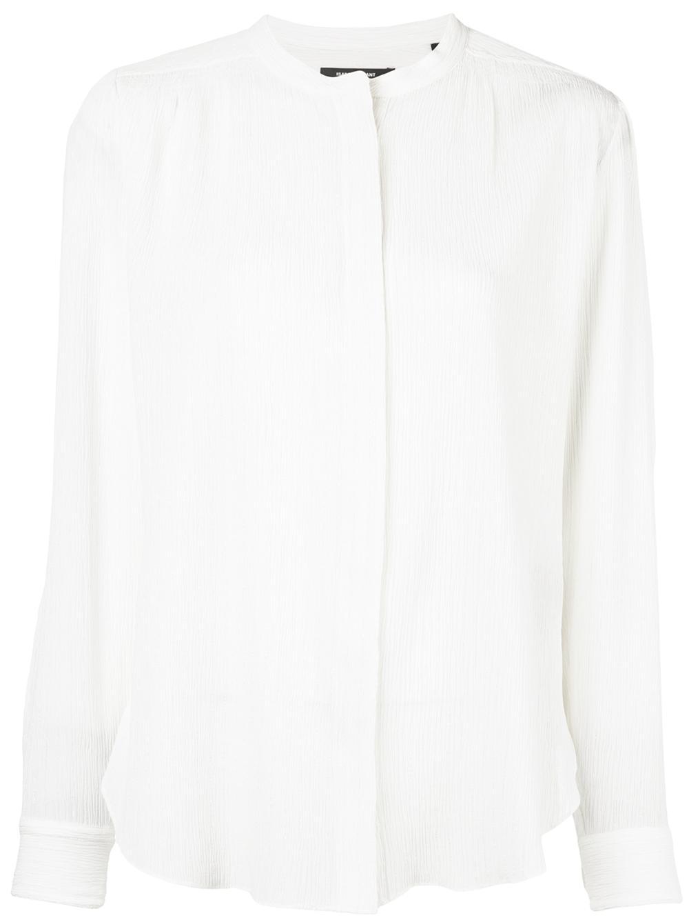 Long Sleeve Silk Something Button Up Blouse Item # MUSAK