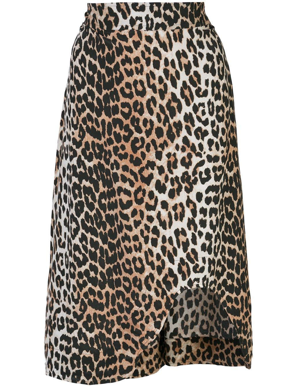 Animal Print Silk Mix Pencil Skirt
