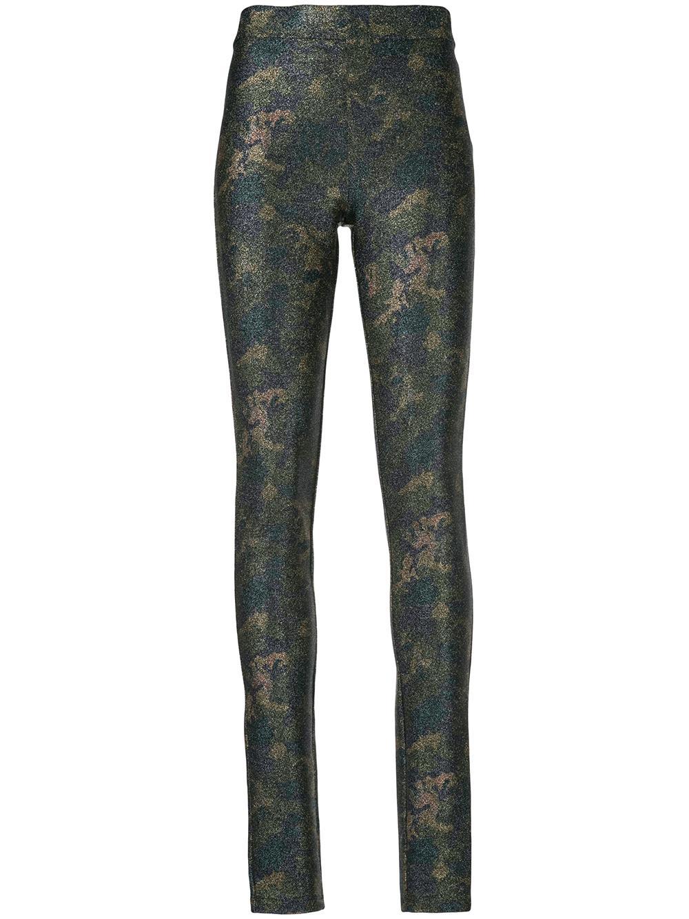 Lurex Jersey Camo Print Legging Item # T2386
