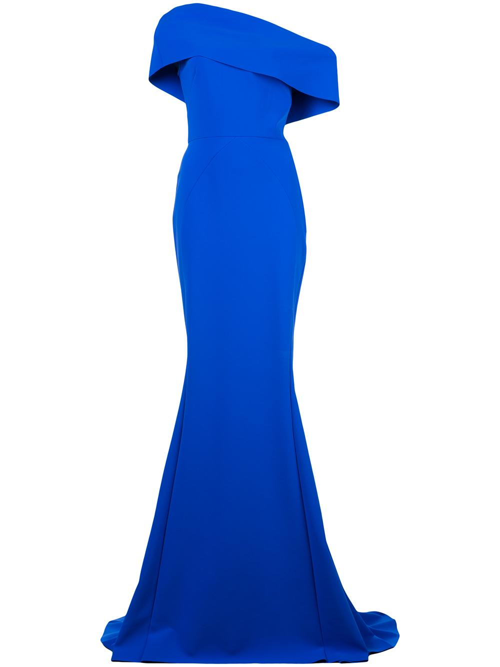 Cap Sleeve Long Gown