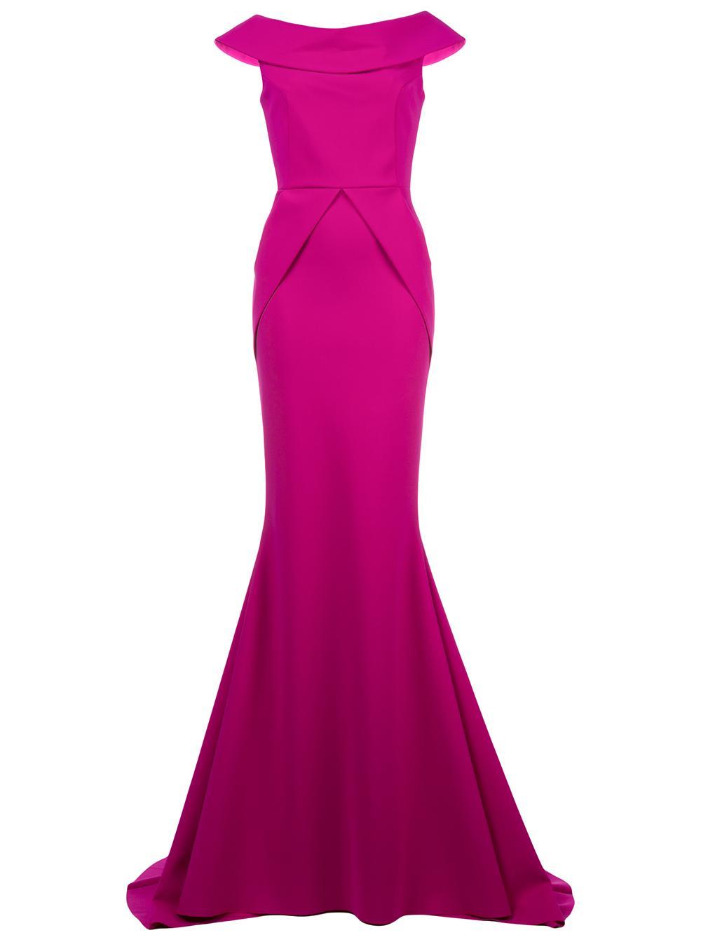 Cuff Off The Shoulder Gown Item # SATURIUS