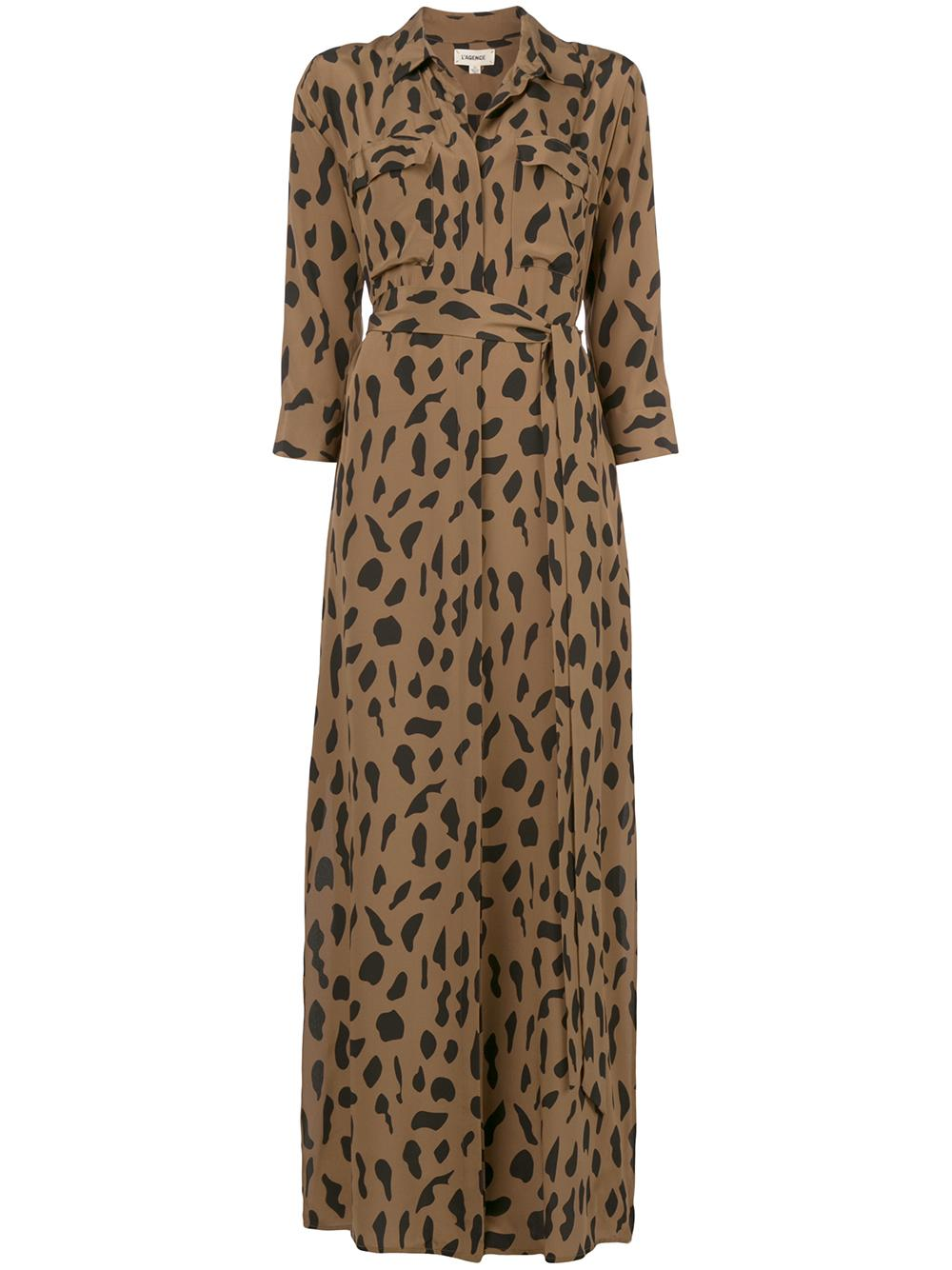 Cameron Animal Print Long Shirt Dress Item # 60466SPC