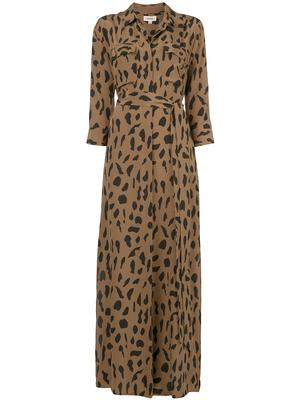 Cameron Animal Print Long Shirt Dress