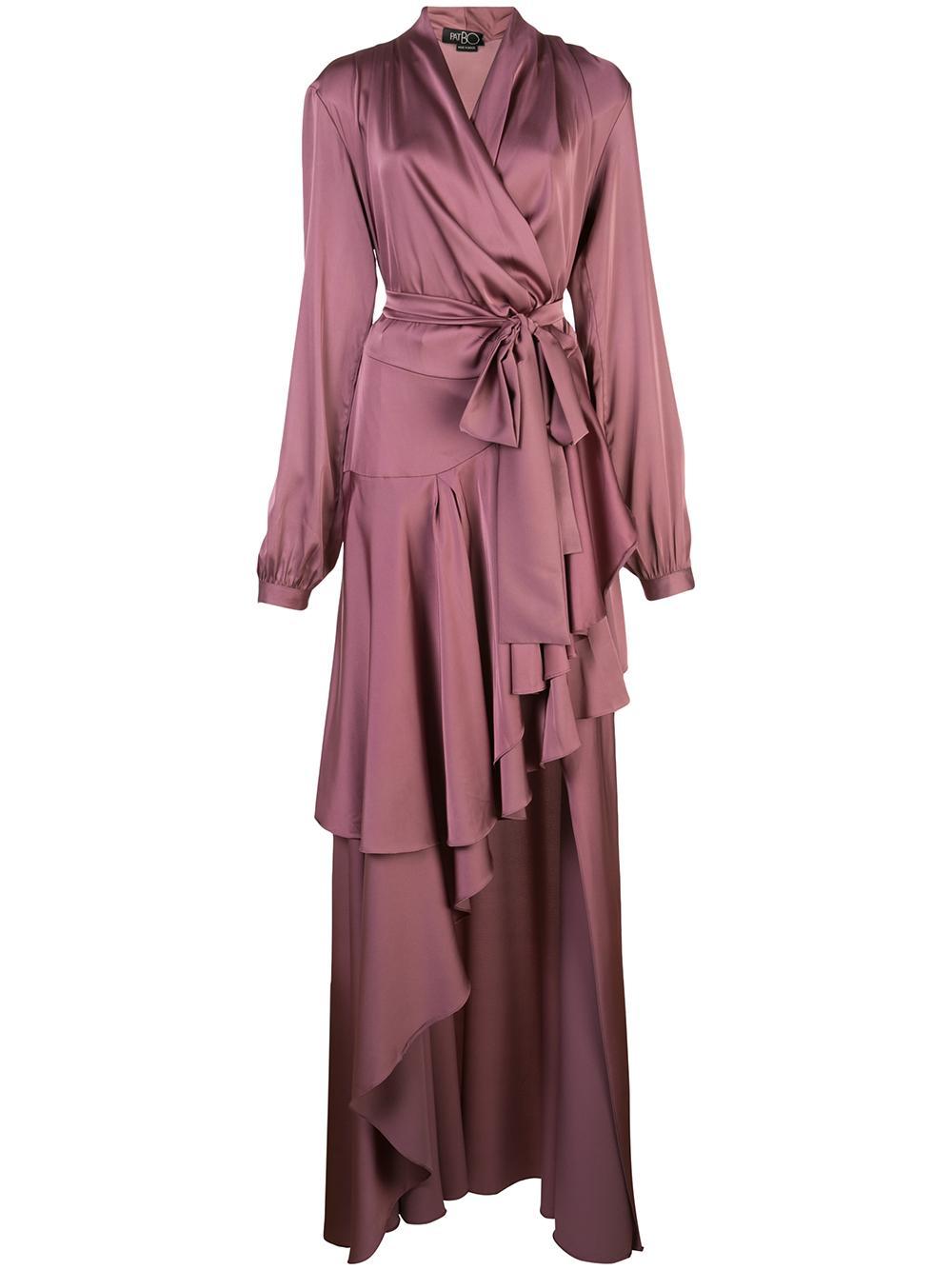 High Low Maxi Wrap Dress Item # VES2087US
