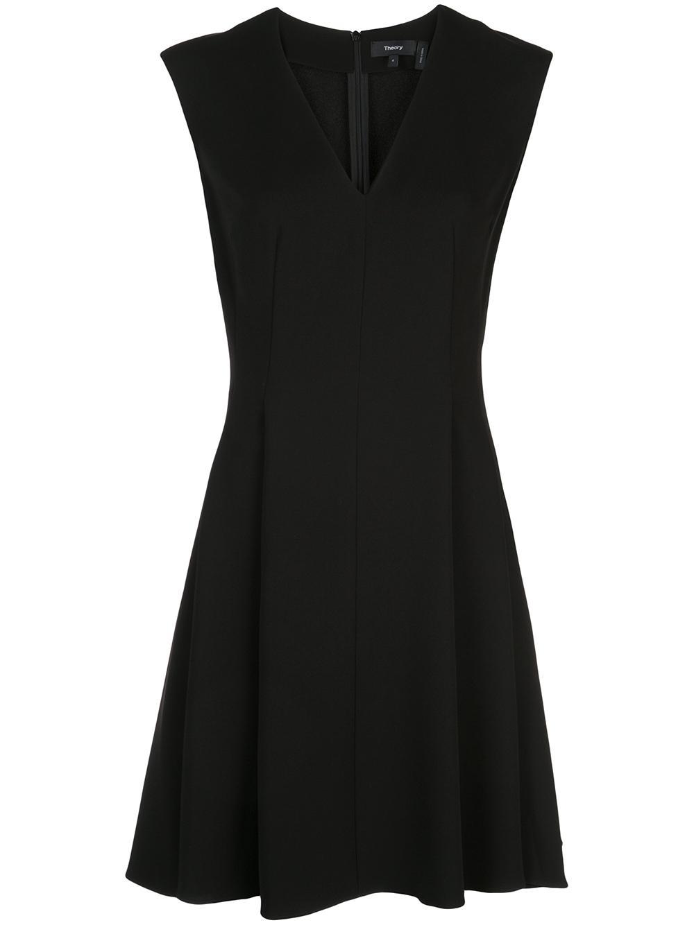 Classic Pleated Cap Sleeve Dress