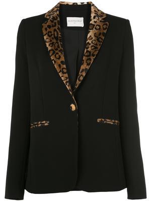 GAIA Blazer With Leopard Contrast