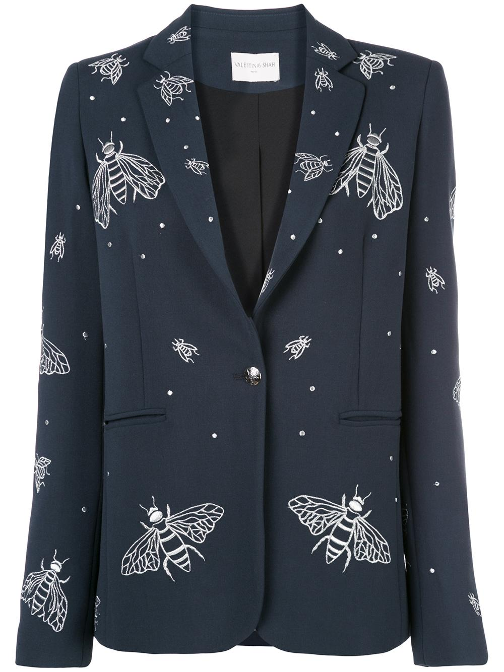 Gaia Embroidered Bee Blazer Item # EMB4209