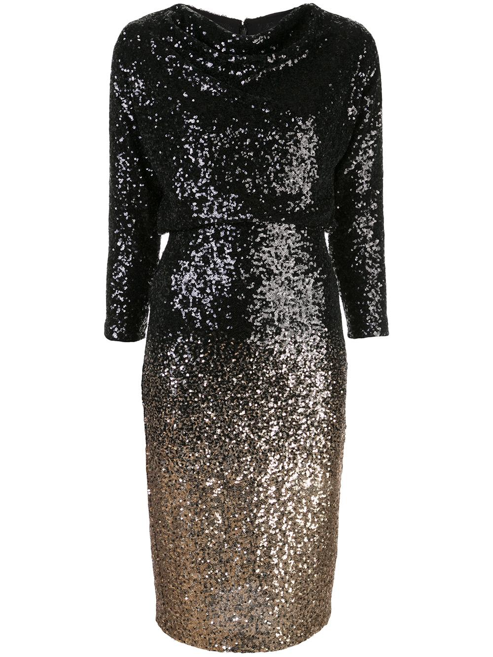 Ombre Sequin Cocktail Dress