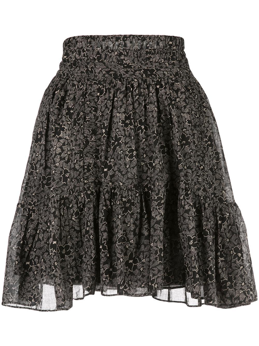 Printed Cotton Short Skirt