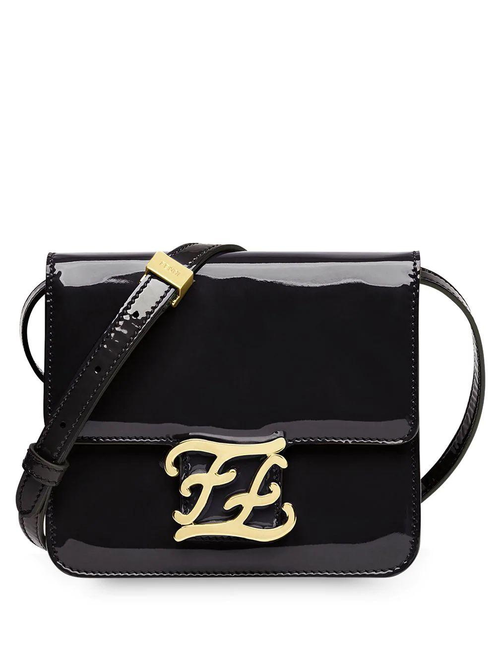 Karligraphy Flap Bag With Monogram Hardware Item # 8BT317A5AU