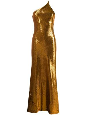 Gilded Roby One Shoulder Gown