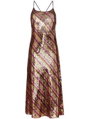 Sylvie Sequin Stripe Maxi Dress